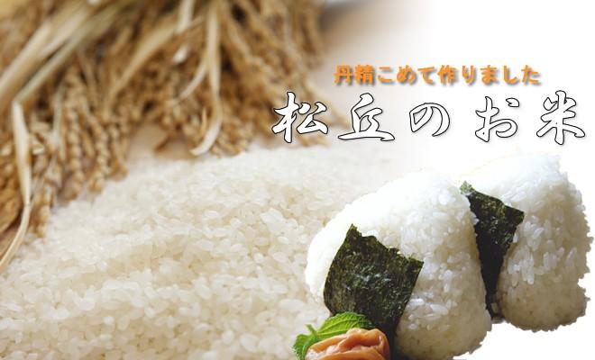 丹精込めて作りました。松丘のお米